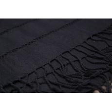 Schal und Schal 100% Handarbeit in verschiedenen Farben, Farbe: Schwarz, image