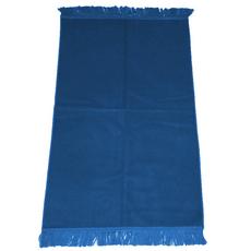 Gebetsteppich in verschiedenen Farben - seidenglänzend, unifarben, ohne Muster, schlicht, 110x71 cm, Bordeaux, Rot, Farbe: Blau, Maße (cm): 110 x 71, image
