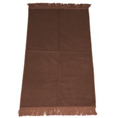 Gebetsteppich in verschiedenen Farben - seidenglänzend, unifarben, ohne Muster, schlicht, 110x71 cm, Bordeaux, Rot, Farbe: Braun, Maße (cm): 110 x 71, image