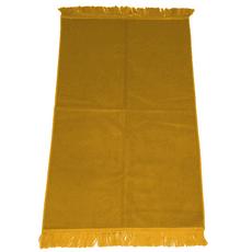 Gebetsteppich in verschiedenen Farben - seidenglänzend, unifarben, ohne Muster, schlicht, 110x71 cm, Bordeaux, Rot, Farbe: Gelb, Maße (cm): 110 x 71, image
