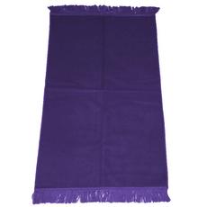 Gebetsteppich in verschiedenen Farben - seidenglänzend, unifarben, ohne Muster, schlicht, 110x71 cm, Bordeaux, Rot, Farbe: Lila, Maße (cm): 110 x 71, image