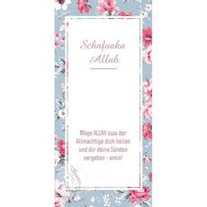 "Postkarte ""Schafaaka Allah"" - lang - Rosen, image"