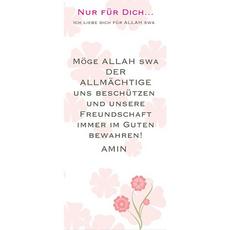 "Postkarte ""Freundschaft"" - lang, image"