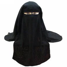 Saudi Niqab - 3-lagig -DUNKELLILA, image