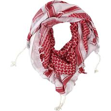 Schal aus Mekka - weiss-rot, image