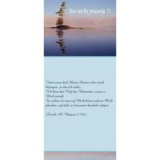 """Postkarte """"Sei nicht traurig"""" - lang, image"""