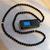 Gebetskette, Misbaha, Subha, Tasbih, Tesbih - Verbindung von Gebetskette und den heiligen Suren des Korans - 99 Perlen Glasperlen und goldfarbenen Schmuckelementen, image 1