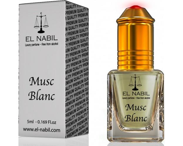 Misk, Musk  Blanc von El Nabil - blumiger Duft mit Moschus und Vanille, Roll-on, 5ml, image