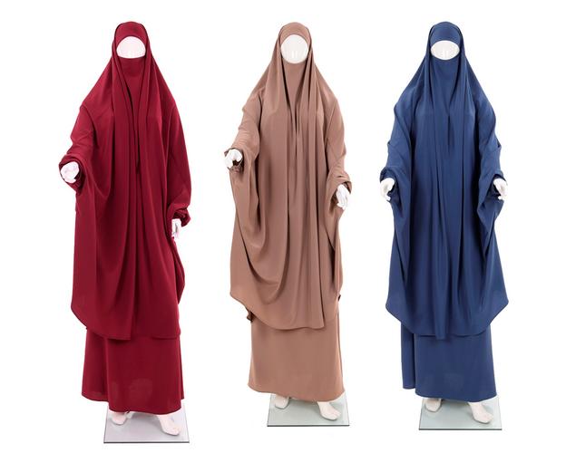 Khimar Set - Dorra Al Maknouna - in verschiednen Farben, Farbe: Schwarz, image