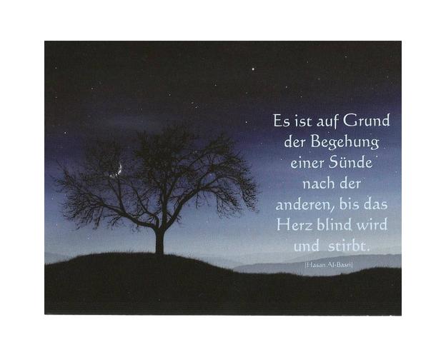 """Postkarte mit Spruch """"Das blinde Herz"""" - in 13,9 cm x 10,7 cm, image"""