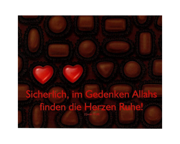 """Postkarte mit Spruch """"Gedenken Allahs"""" - in 13,9 cm x 10,7 cm, image"""