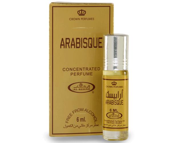 Al Rehab - ARABISQUE - Parfüm 6ml Flasche mit Roller  für Damen und Herren, image