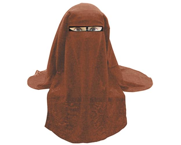 Saudi Niqab - 3-lagig -DUNKELLILA [CLONE], image