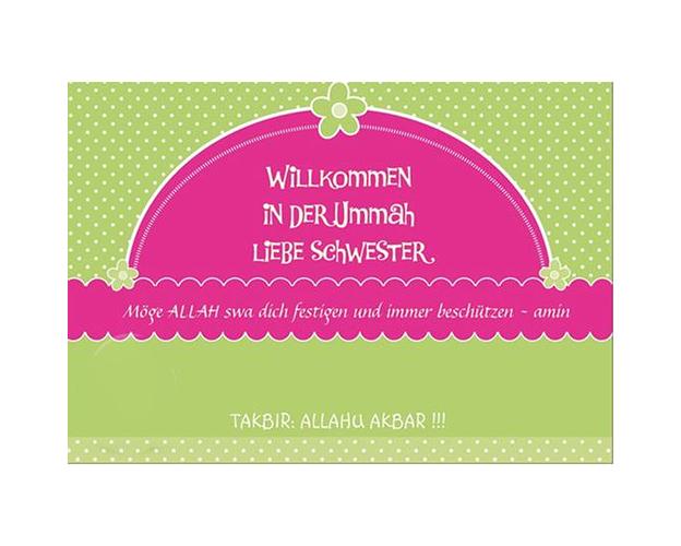 "Postkarte ""Willkommen in der Ummah"" - DIN A5, image"