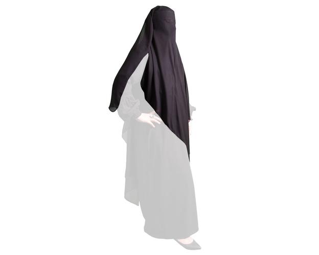 Triangel Niqab - ocker/senffarben, image